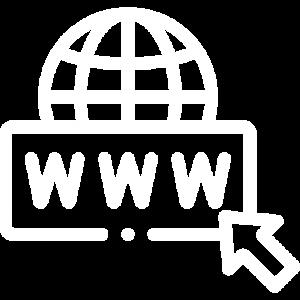 Icone Site internet - blanc