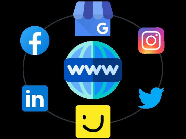 Sites internet Réseaux Sociaux Google Présence en ligne
